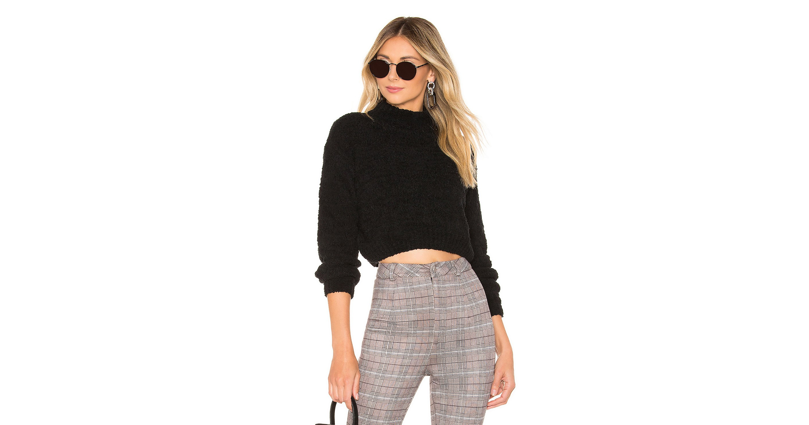 This Cropped Chenille Sweater Is So Soft and Even More Stylish