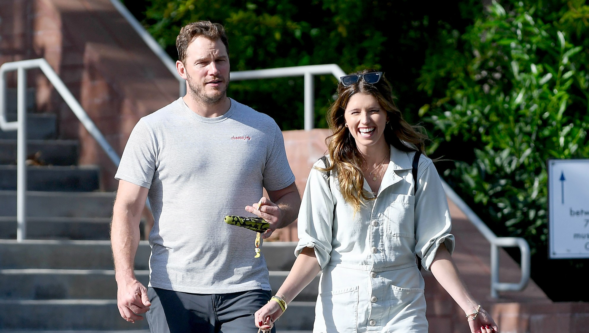 Chris Pratt and Katherine Schwarzenegger Improvise in the Funniest Way to Measure Their New House