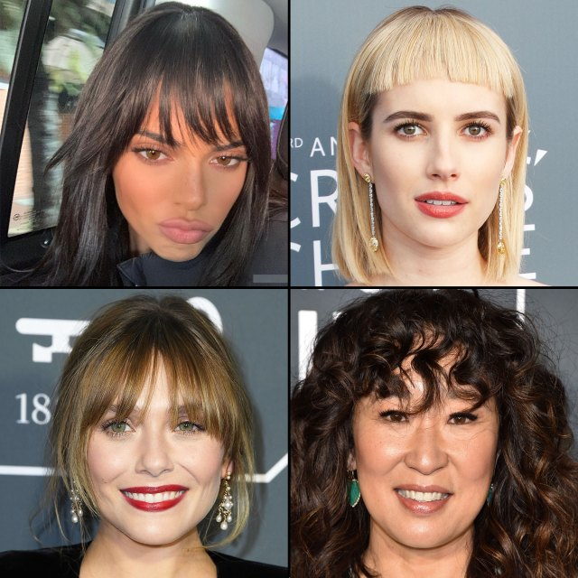 celebrities with bangs: best haircuts with fringe