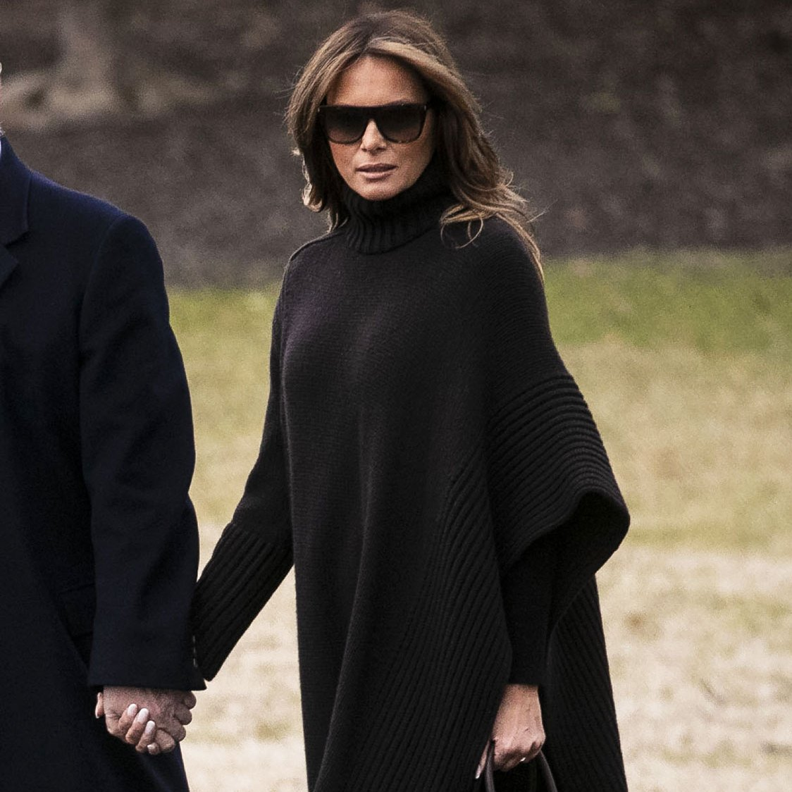 Melania Trump's Latest Outfit Includes a $2,300 Cashmere Poncho