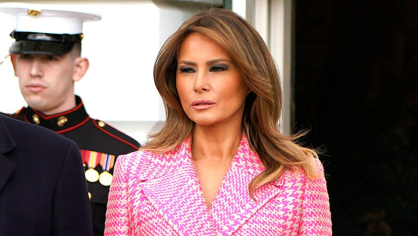 Melania Trump's Latest Coat Is a Perfectly Timed Pick