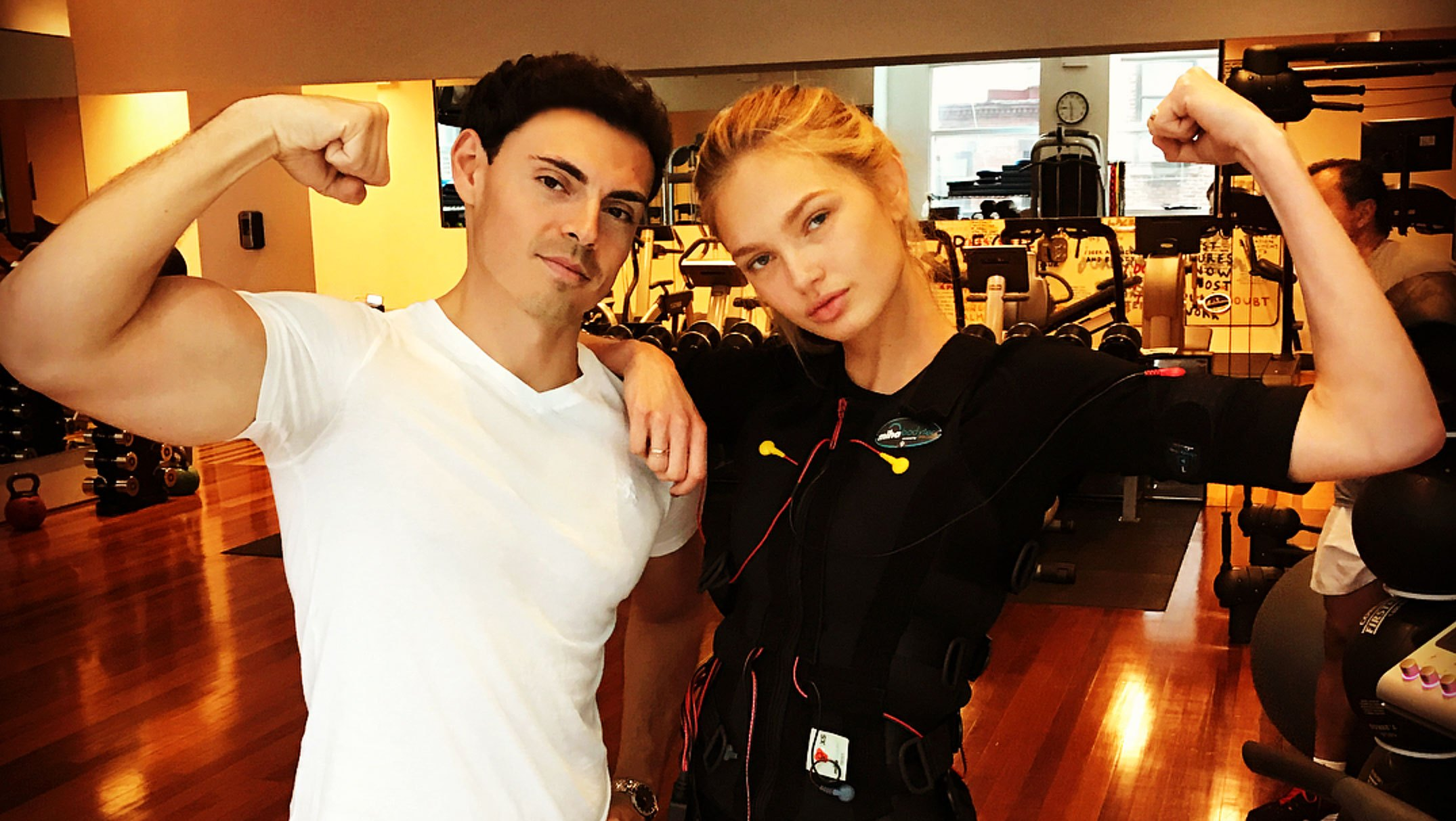 Best Celebrity Trainers In Hollywood Fitness Secrets Romee Strijd Mohamed Elzomor