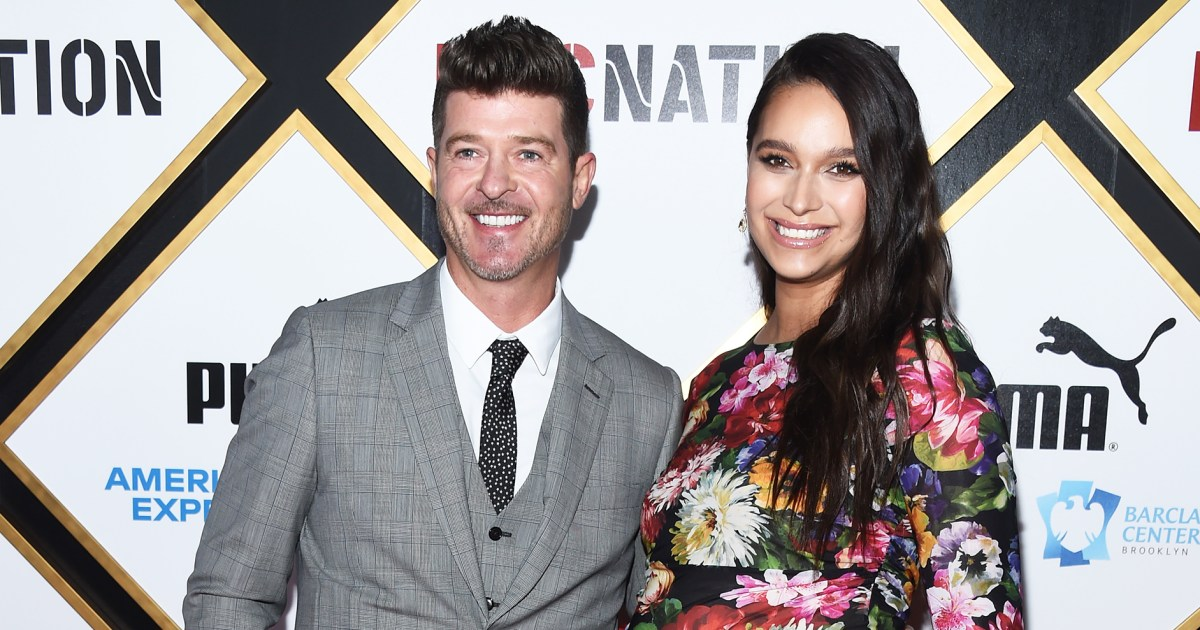 Robin Thicke Spoils April Love Geary Before Baby No. 2's Birth