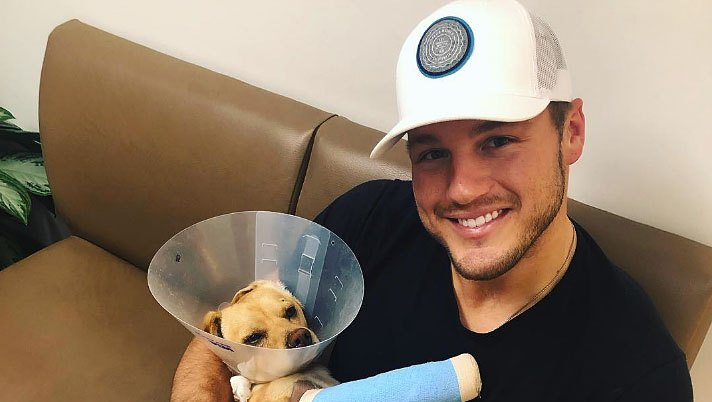 Colton Underwood Visits Rescue Dog Named After Him — Becca Kufrin Offers to Adopt the 3-Legged Pup!