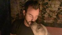 Justin Theroux Has a Lady and the Tramp-Style Date Night With His Dog