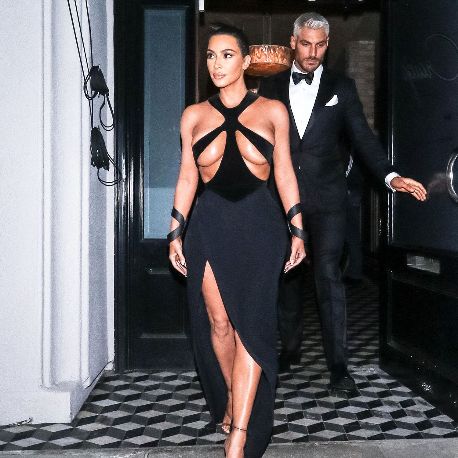 Kim Kardashian Joins the Nearly Naked Dress Club in an Ultra-Racy Look