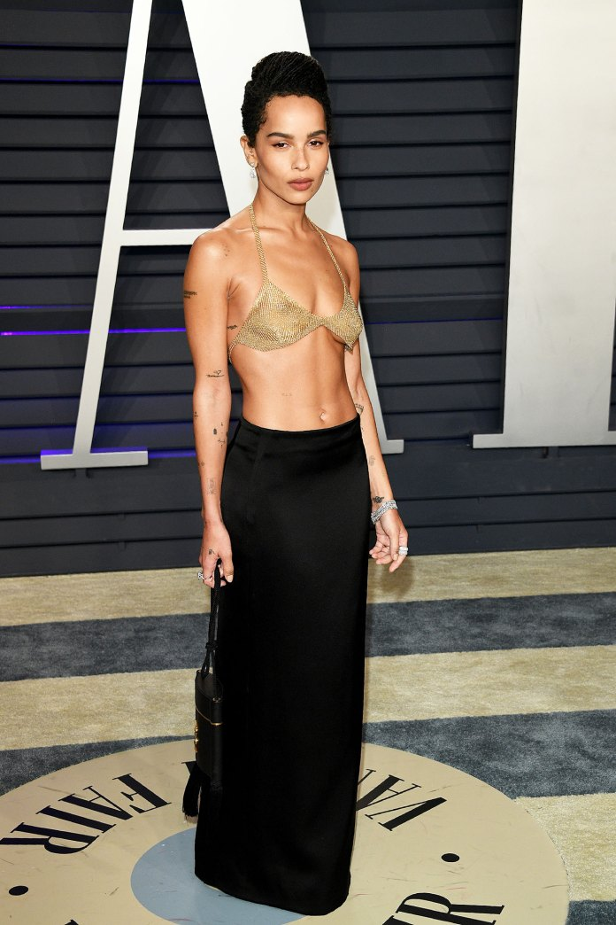 Zoe Kravitz Stars Bring the Sizzling Nearly Naked Dress Trend to the Oscars