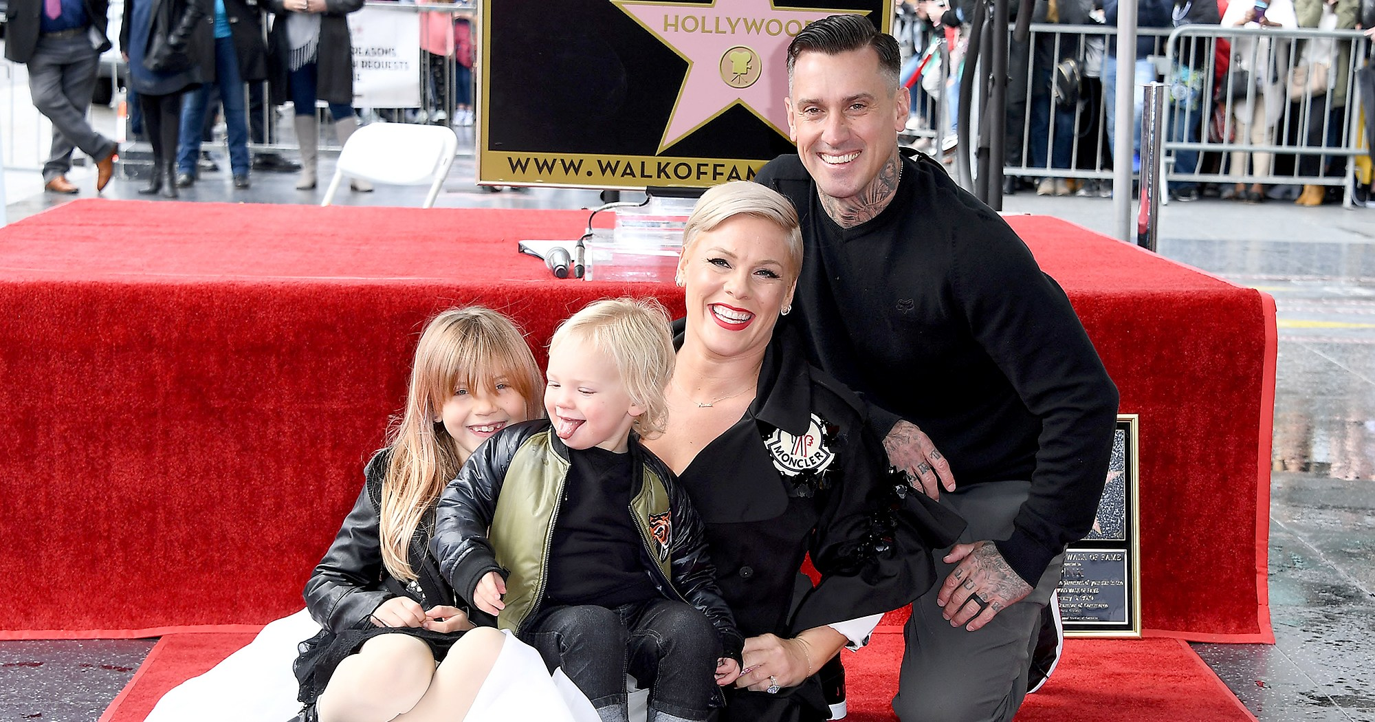 Pink's Daughter Congratulates Her on Hollywood Walk of Fame Star