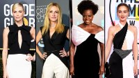 Charlize Theron, Julia Roberts, Viola Davis and Leighton Meester red carpet gallery for Stylish - black and white