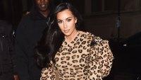 Kim Kardashian Paris Fashion Week Head To Toe Leopard