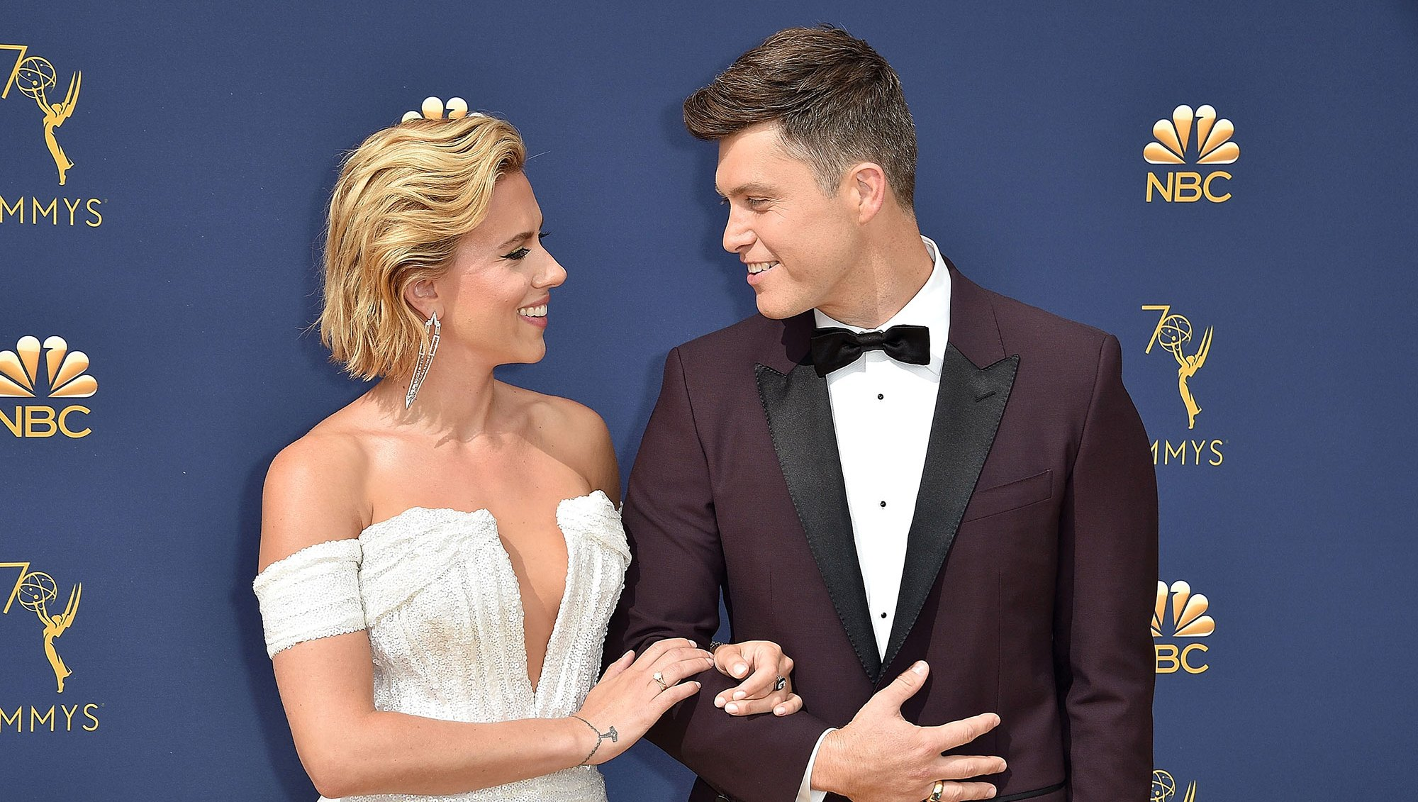 Colin Jost Who? Scarlett Johansson Jokes She's Dating Her Doorman