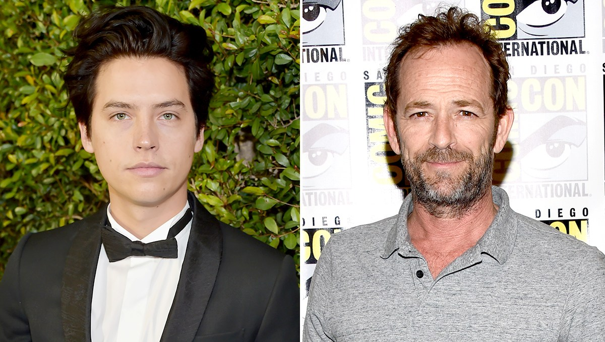Cole Sprouse and Luke Perry