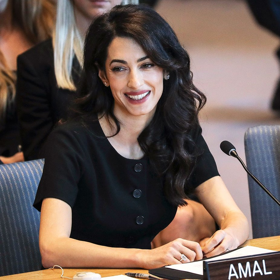 Amal Clooney Does Lawyer-Chic in a Short-Sleeve LBD