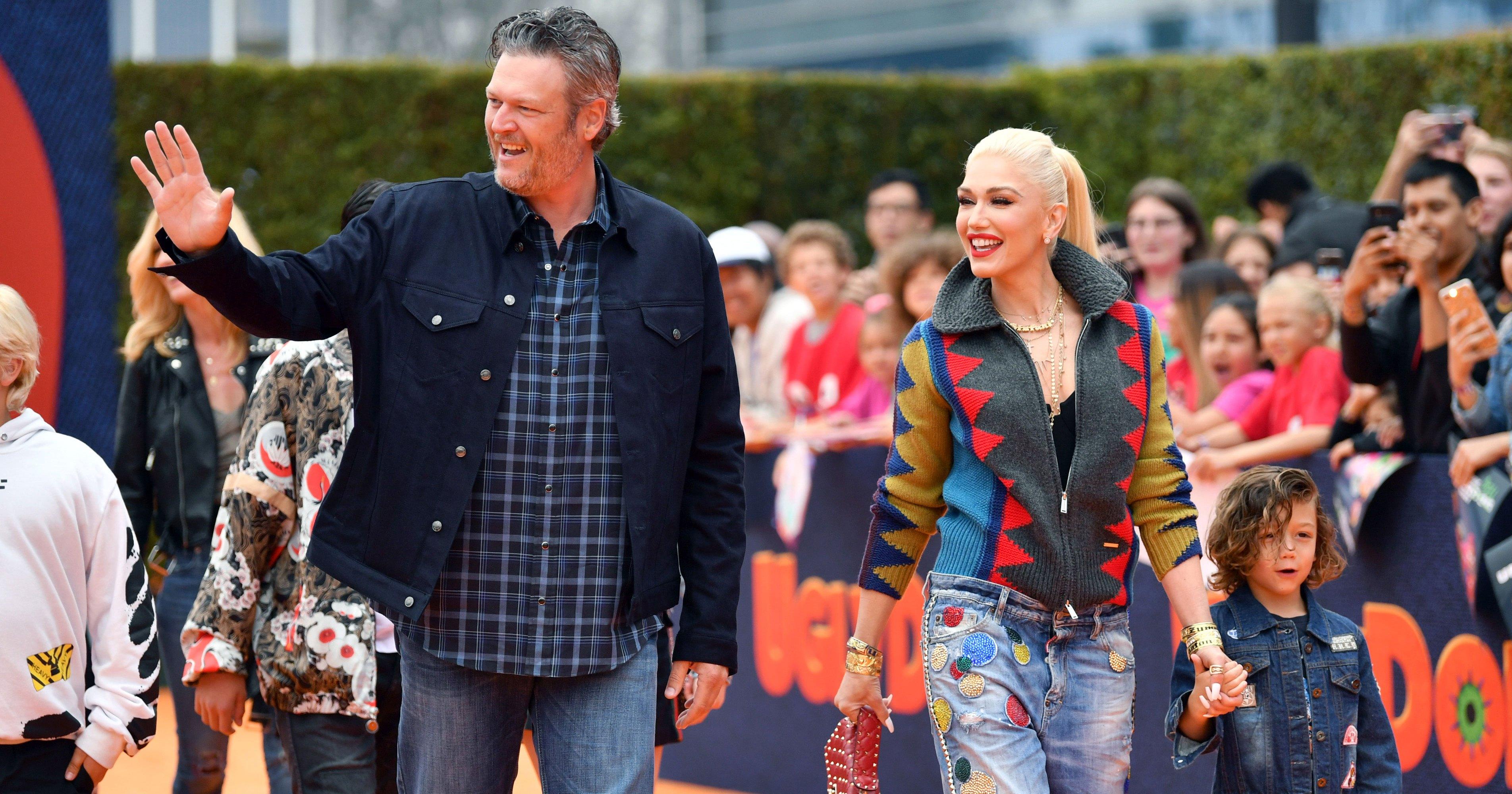 Blake Shelton and Girlfriend Gwen Stefani Make Red Carpet Debut With Her Kids at 'UglyDolls' Premiere: Pics
