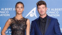 Robin Thicke's Fiancee April Love Geary Responds to Video of Him and Khloe Kardashian Hugging