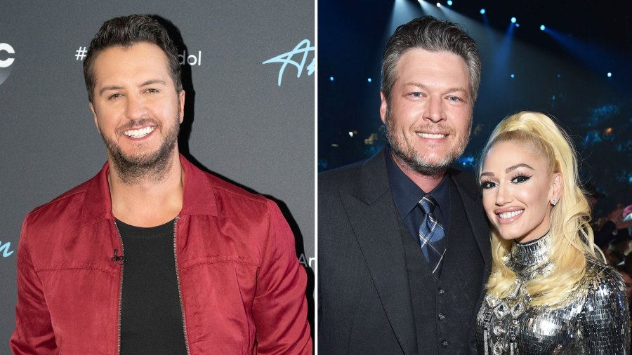 Luke Bryan, Blake-Shelton and Gwen Stefani