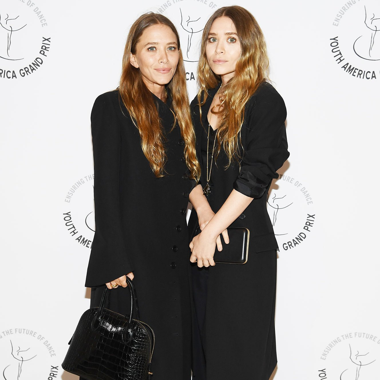 Mary Kate and Ashley Olsen red carpet Youth America Grand Prix's 20th Anniversary Gala