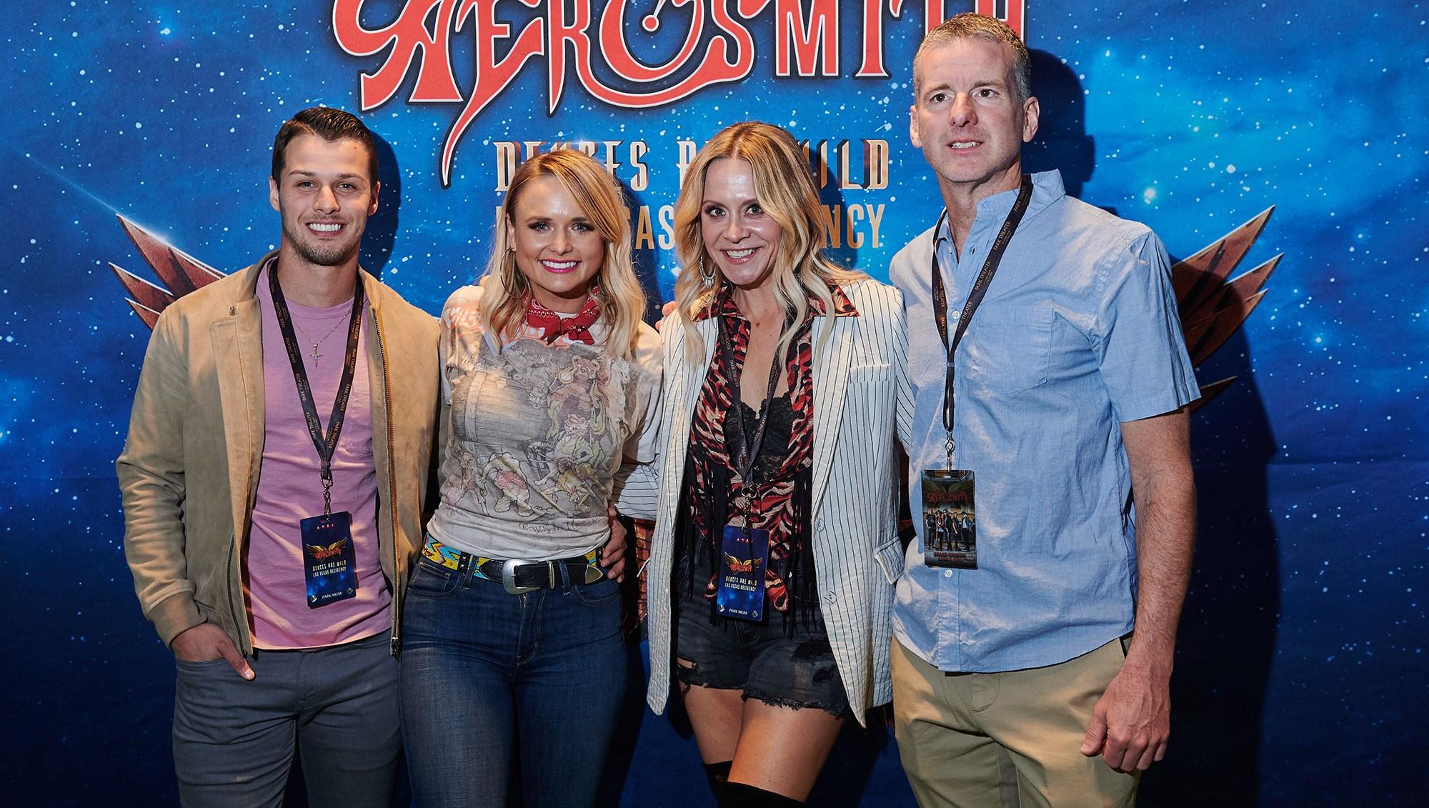 Miranda Lambert and Brendan McLoughlin Date Night Aerosmith Las Vegas