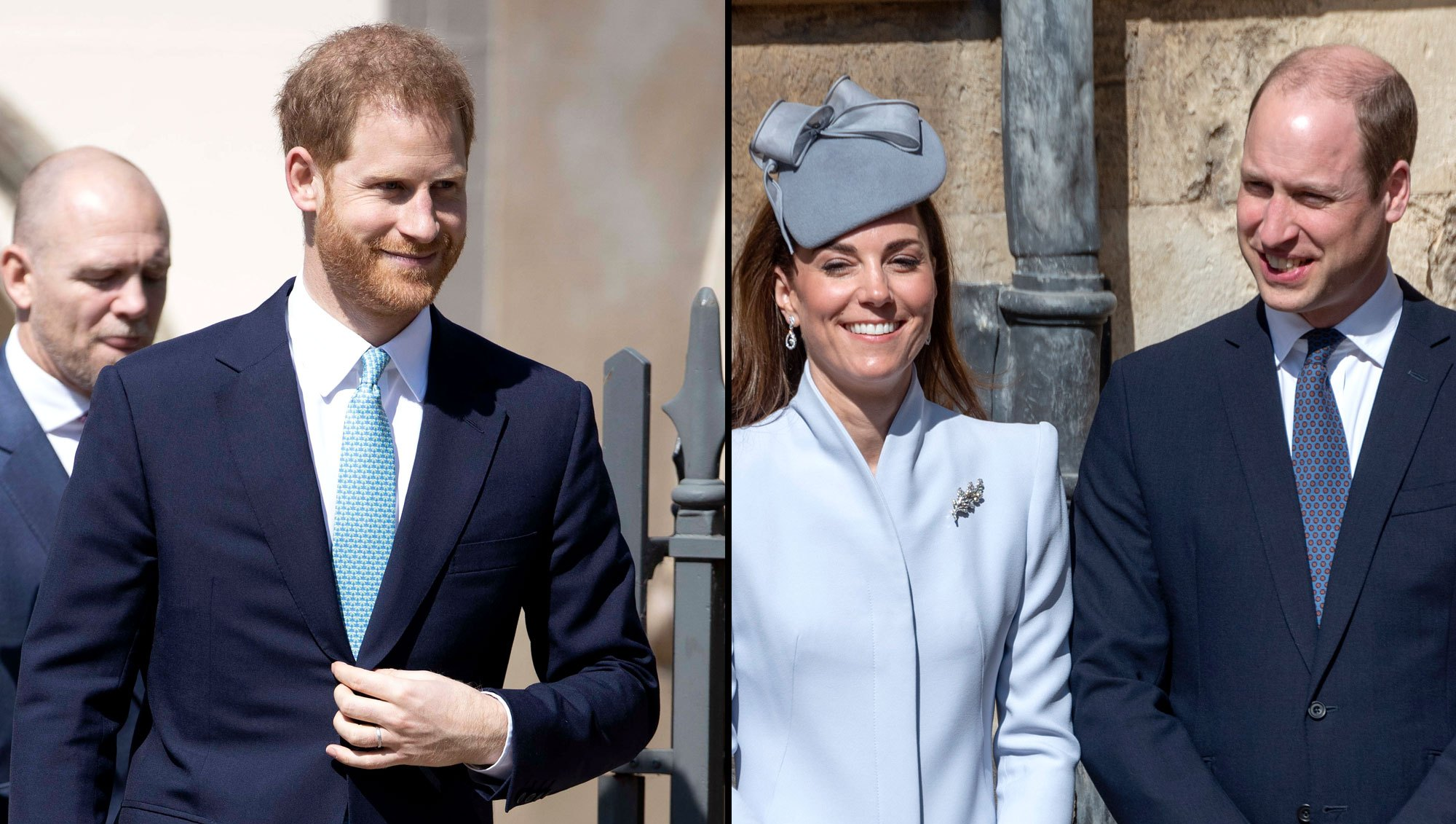 Prince Harry Makes Prince William and Duchess Kate Laugh in New Video From Easter Service Amid Feud Reports