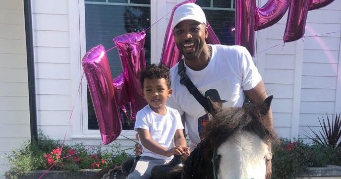 Tristan Thompson Bonds With 2-Year-Old Son Prince at a B-Day Party