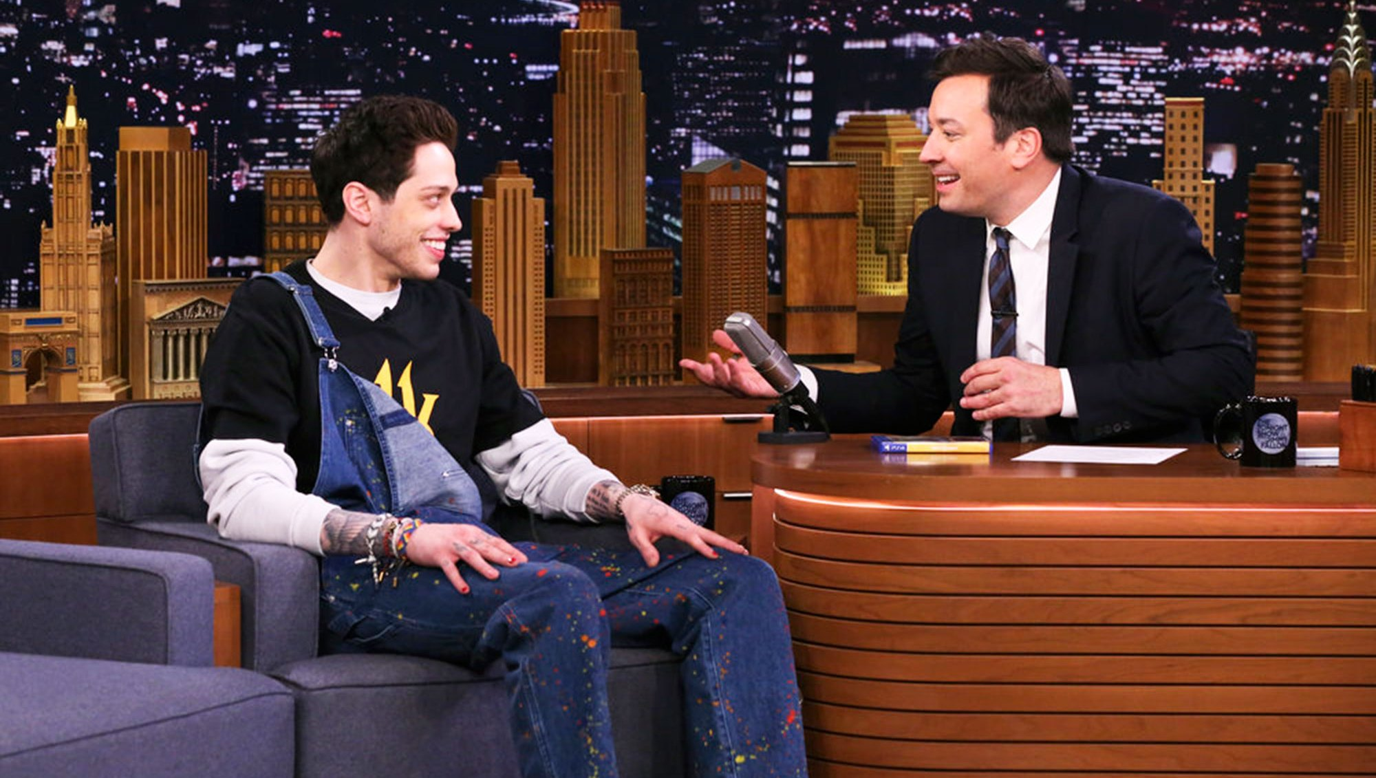 Pete Davidson The Tonight Show Starring Jimmy Fallon Lives With His Mom Has Crush on Video Game Character: 'I'm Lonely!'