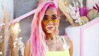 Winnie Harlow Coachella Weekend 2 2019 pink hair