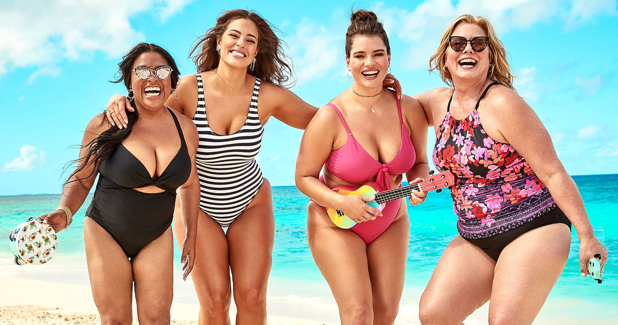 Ashley Graham and Sherri Shepherd Lead Body-Positive Swimsuits For All x KingSize Campaign for Women and Men