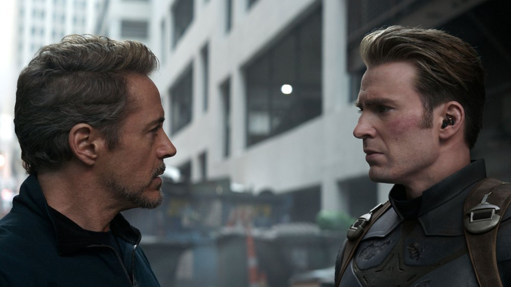 Robert Downey Jr. and Chris Evans in 'Avengers: Endgame.'