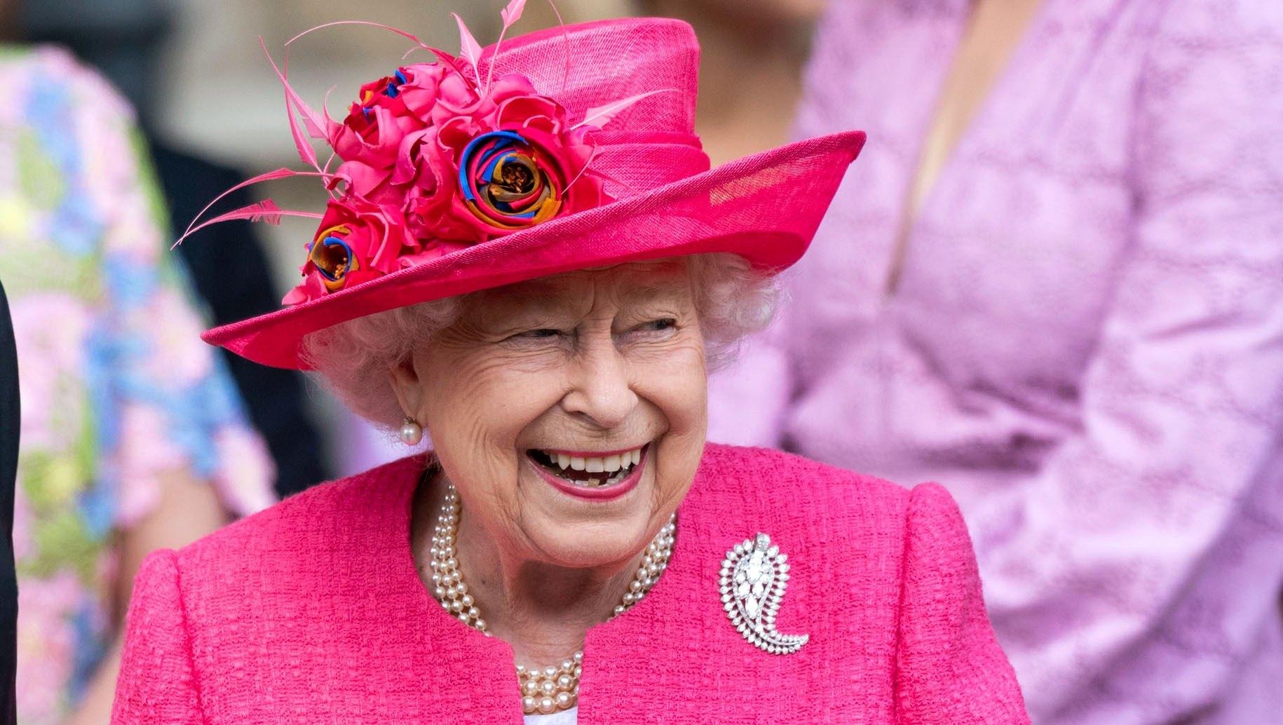 Queen Elizabeth II attends the wedding of Lady Gabriella Windsor