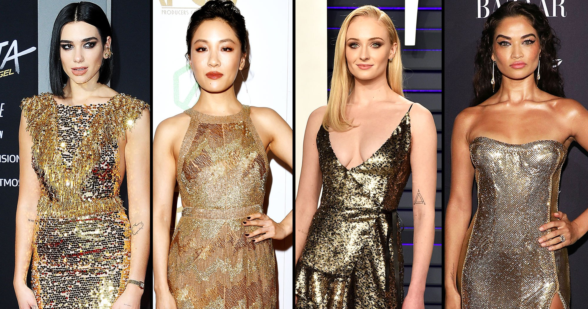Celebs Strike Gold on the Red Carpet: See the Top 10 Sparkling Looks
