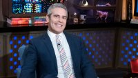 Andy Cohen Sitting in a Chair For His Show Watch What Happens Live With Andy Cohen