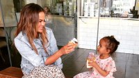 Chrissy Teigen and Luna Eating Ice Cream