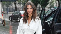 Emily Ratajkowski Pantsless White Ensemble June 18