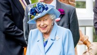 Queen Elizabeth Royal Ascot Blue Outfit June 18