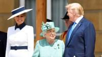 Queen Elizabeth Welcomes Donald Trump Melania