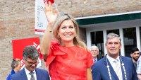 Queen Maxima Wide-Leg Pants Red Top June 20