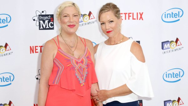 Tori Celebrates 'BFF' Jennie Garth as They Fly Home From 'BH90210' Filming