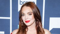 Lindsay Lohan Red Dress January 9, 2019