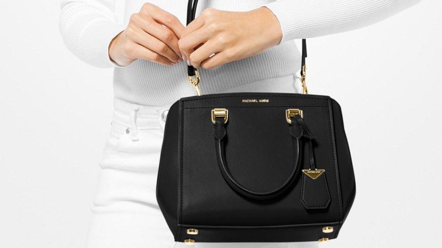 macy's black purse