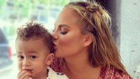Chrissy Teigen Kisses Miles