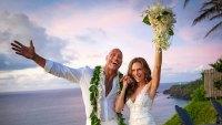 Dwayne Johnson Marries Lauren Hashian High Res Hawaii Celebrate