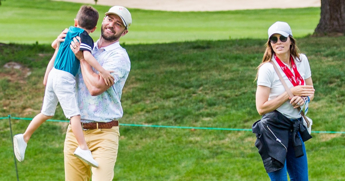 Justin Timberlake and Jessica Biel Spend Family Time on a Golf Course With Son Silas: See the Adorable Pics!