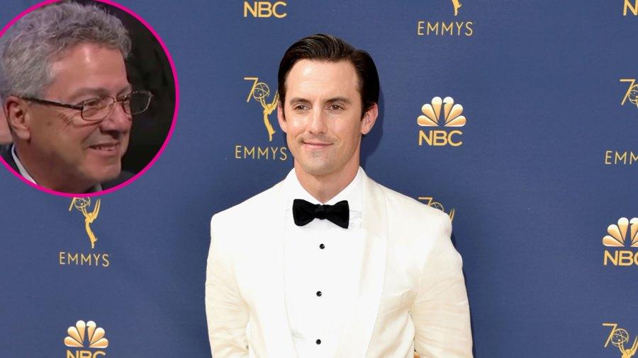 Milo Ventimiglia White Tux Black Pants Black Tie Father From Jimmy Kimmel Live