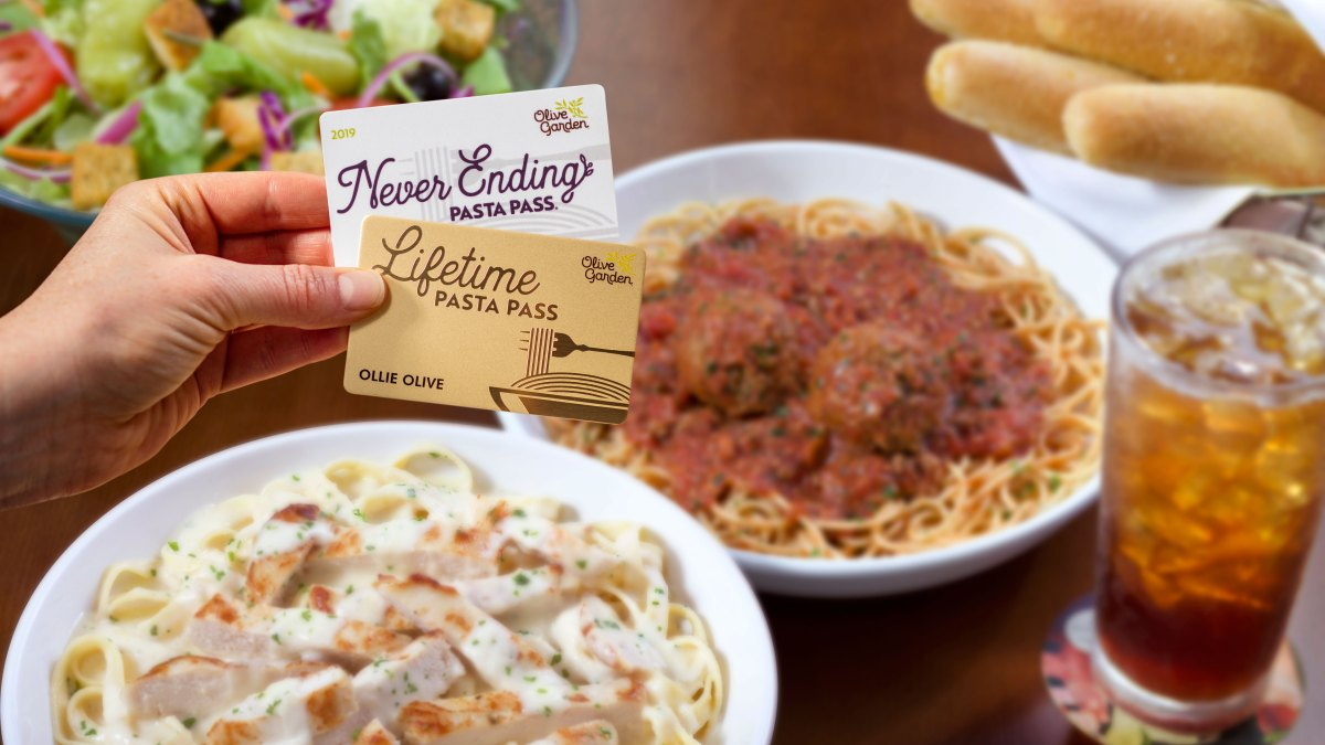Olive Garden's New Lifetime Pasta Pass Will Give You Pasta Until You Die