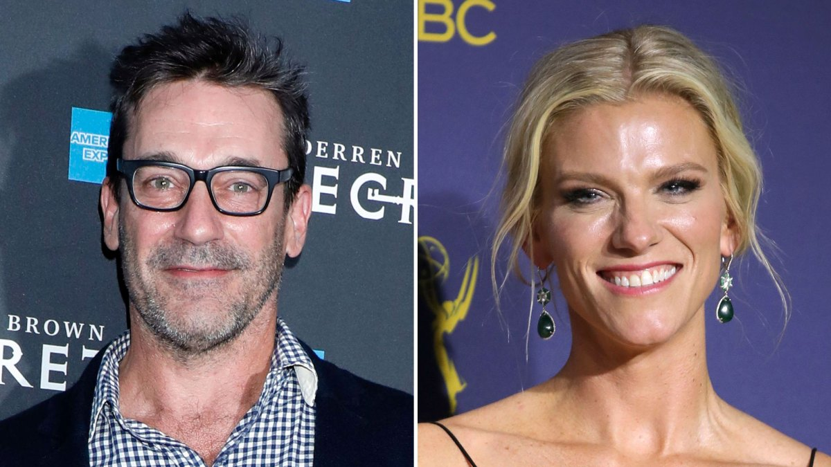 Jon Hamm and Lindsay Shookus Check Out Broadway Show 'Derren Brown: Secret' Together