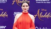 Katie Stevens Orange Dress Aladdin Breast Cancer Scare