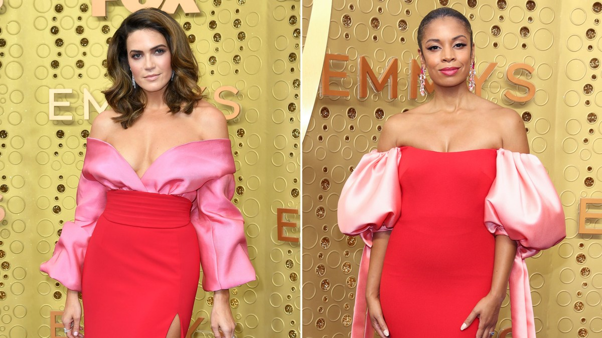 'This Is Us' Costars Mandy Moore and Susan Kelechi Watson Wear Nearly Identical Dresses to the 2019 Emmy Awards