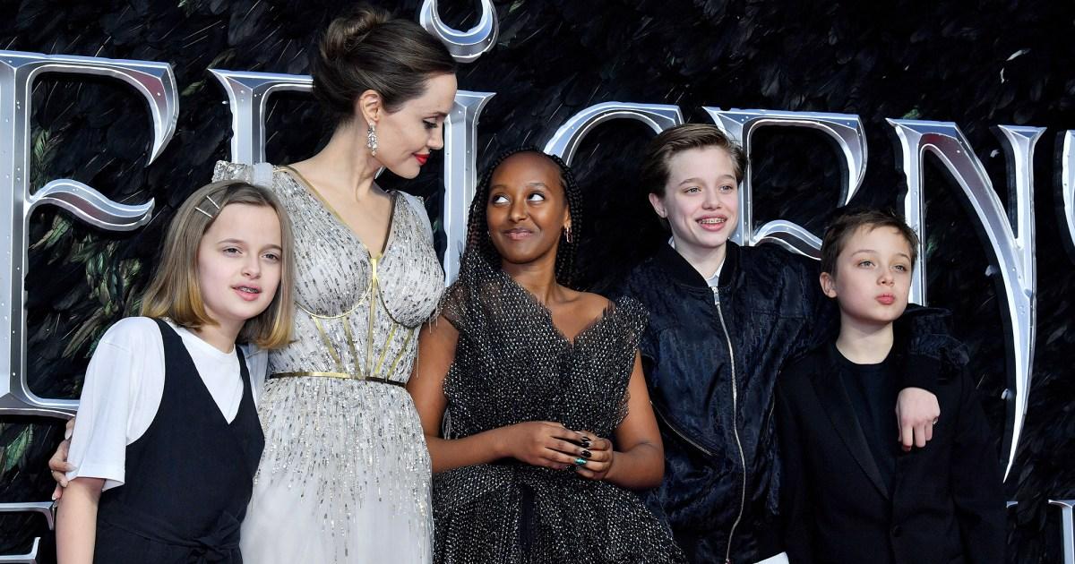 Angelina Jolie Brings Her Kids To London Maleficent Premiere