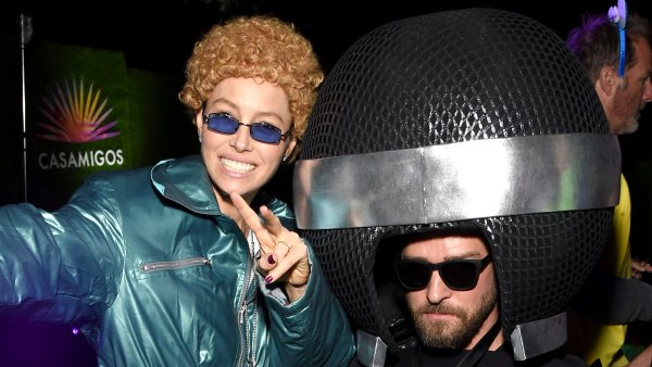 Celebs Dressing Up as Other Celebs for Halloween Jessica Biel as NSYNC Justin Timberlake