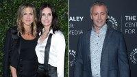 Courteney Cox Reunites With 'Friends' Costars Jennifer Aniston and Matt LeBlanc